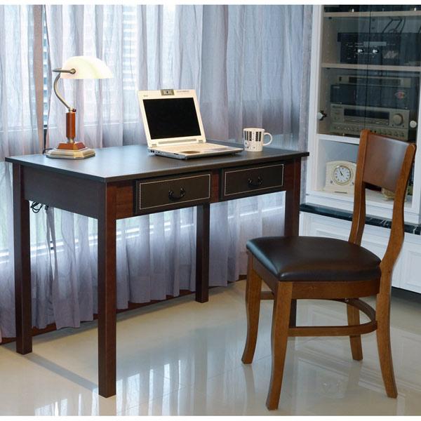 《閱讀歐洲》新古典馬鞍皮大書桌 (桌面長103公分) 圖示介紹2